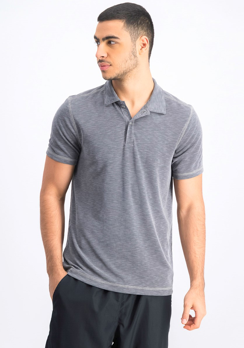 Men's Short Sleeve Polo Shirt, Dark Smoke