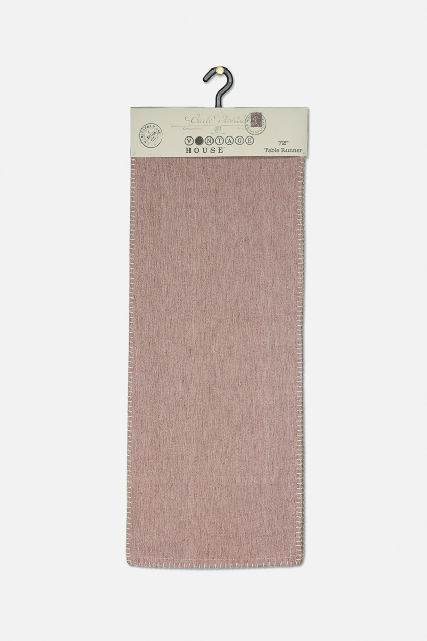 Chambray Table Runner, Redwood