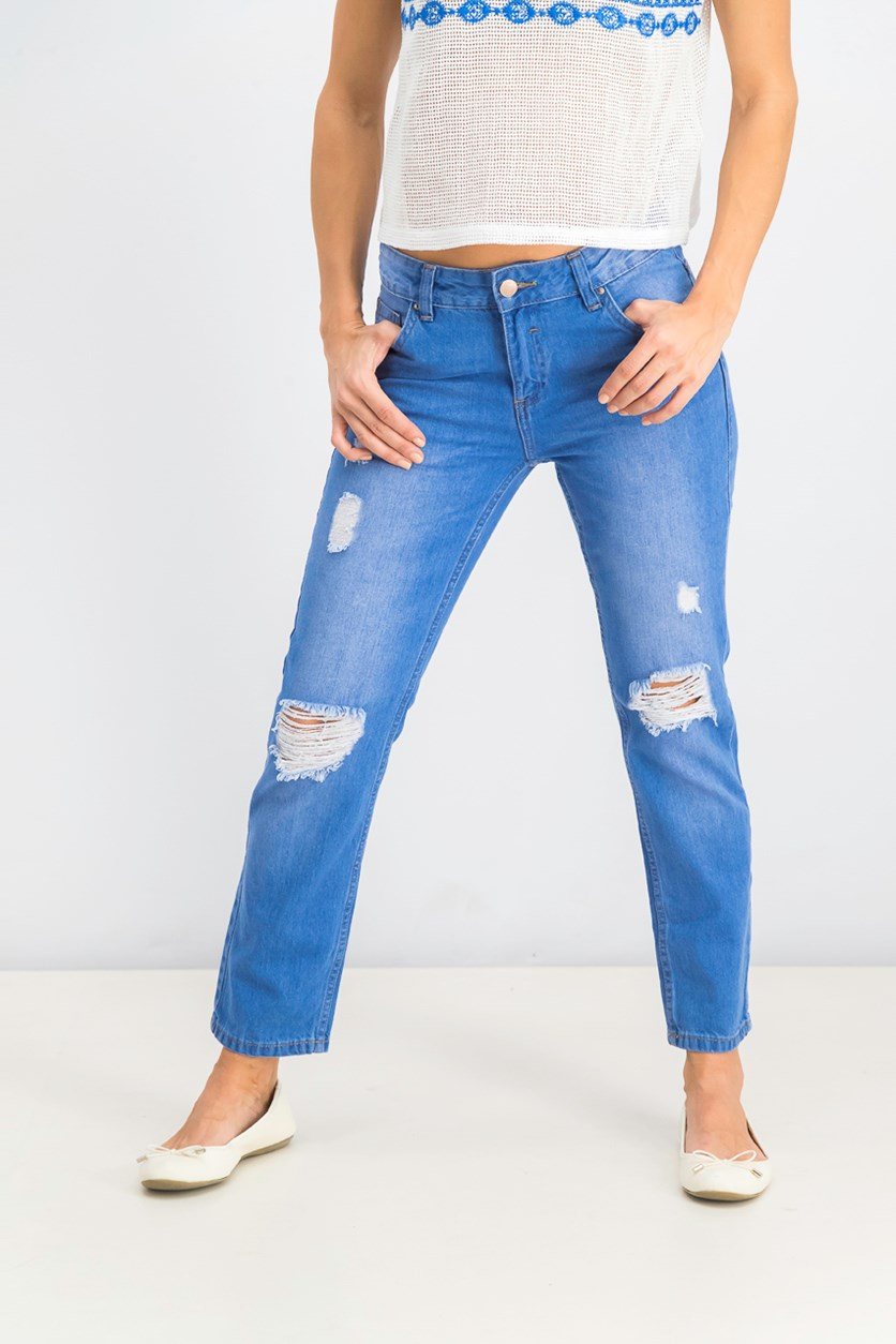 Women's Ripped Jeans, Blue