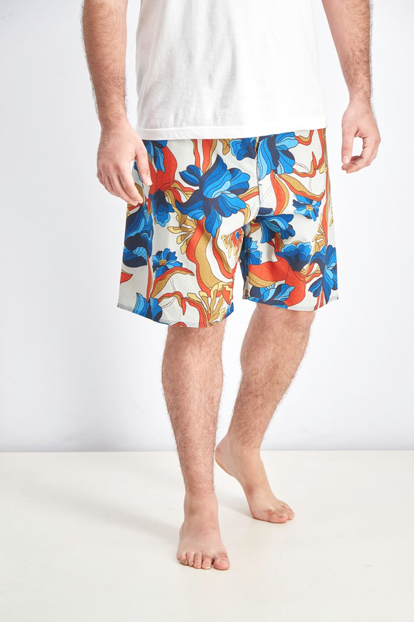 Men's Sundays Airlite Board Shorts, Blue/Coral/Gold