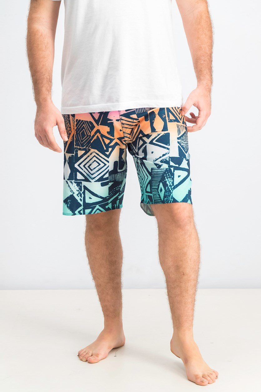 Men's Sundays Airlite Board Shorts, Navy/Pink/Aqua