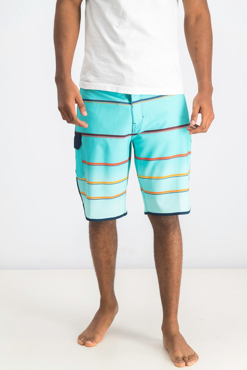 Men's Stripe Boardshorts, Mint