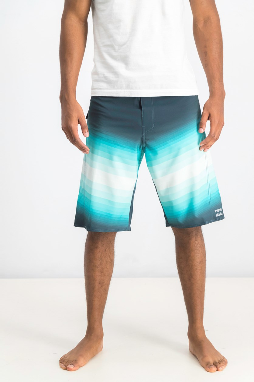 Men's Fluid X Boardshorts, Aqua/Teal Green