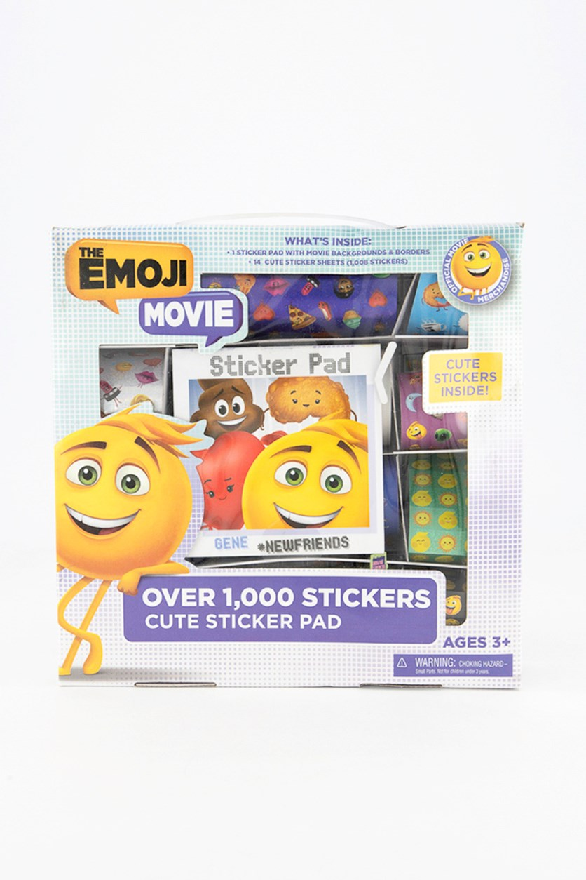 The Emoji Movie Newfriends Sticker Pad, White