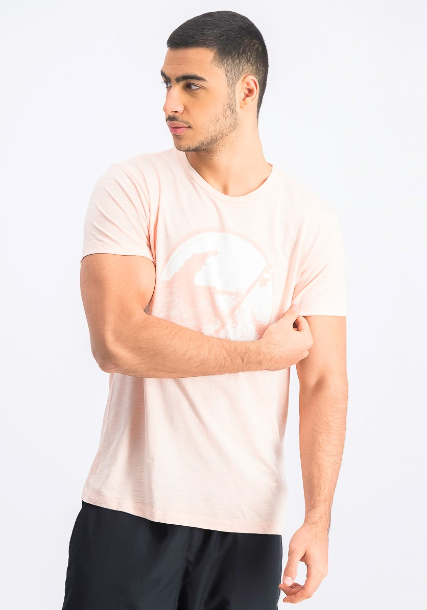 Men's Graphic T-Shirt, Coral