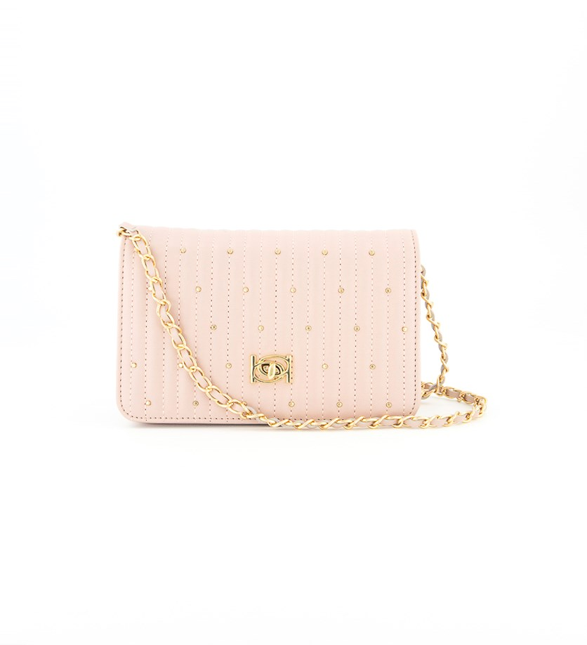 Women's Phoebe Stud Crossbody Bag, Blush