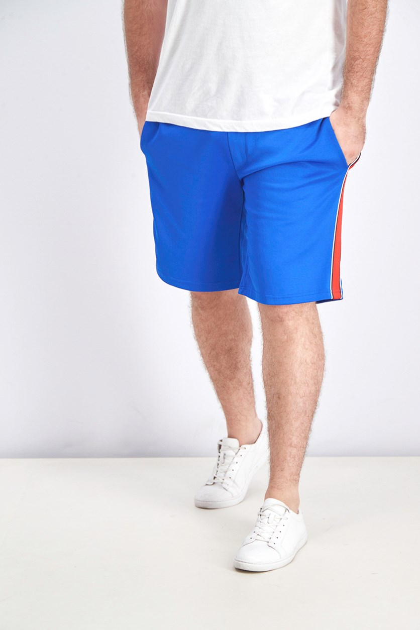 Men's Bermuda with Side Stripes Shorts, Blue