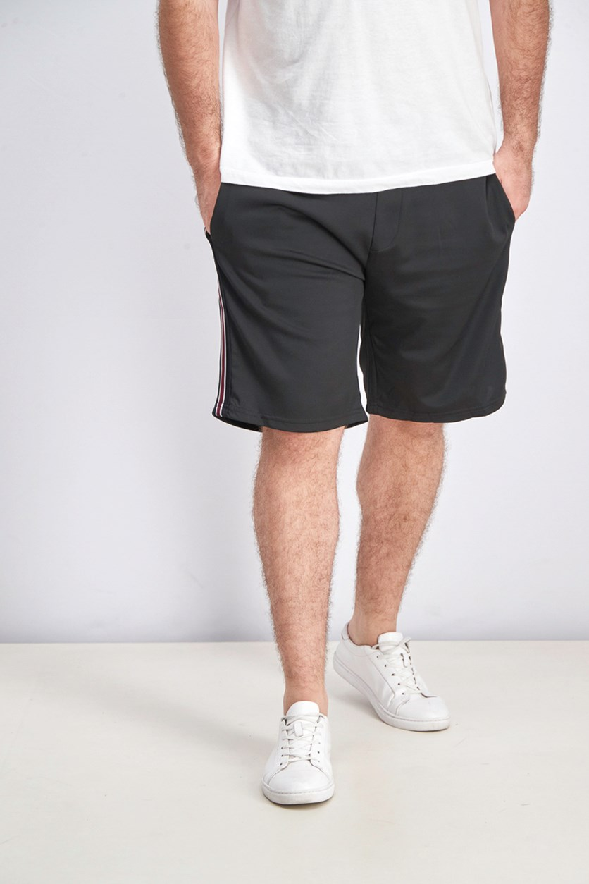 Bermuda Shorts With Side Stripes, Black Combo