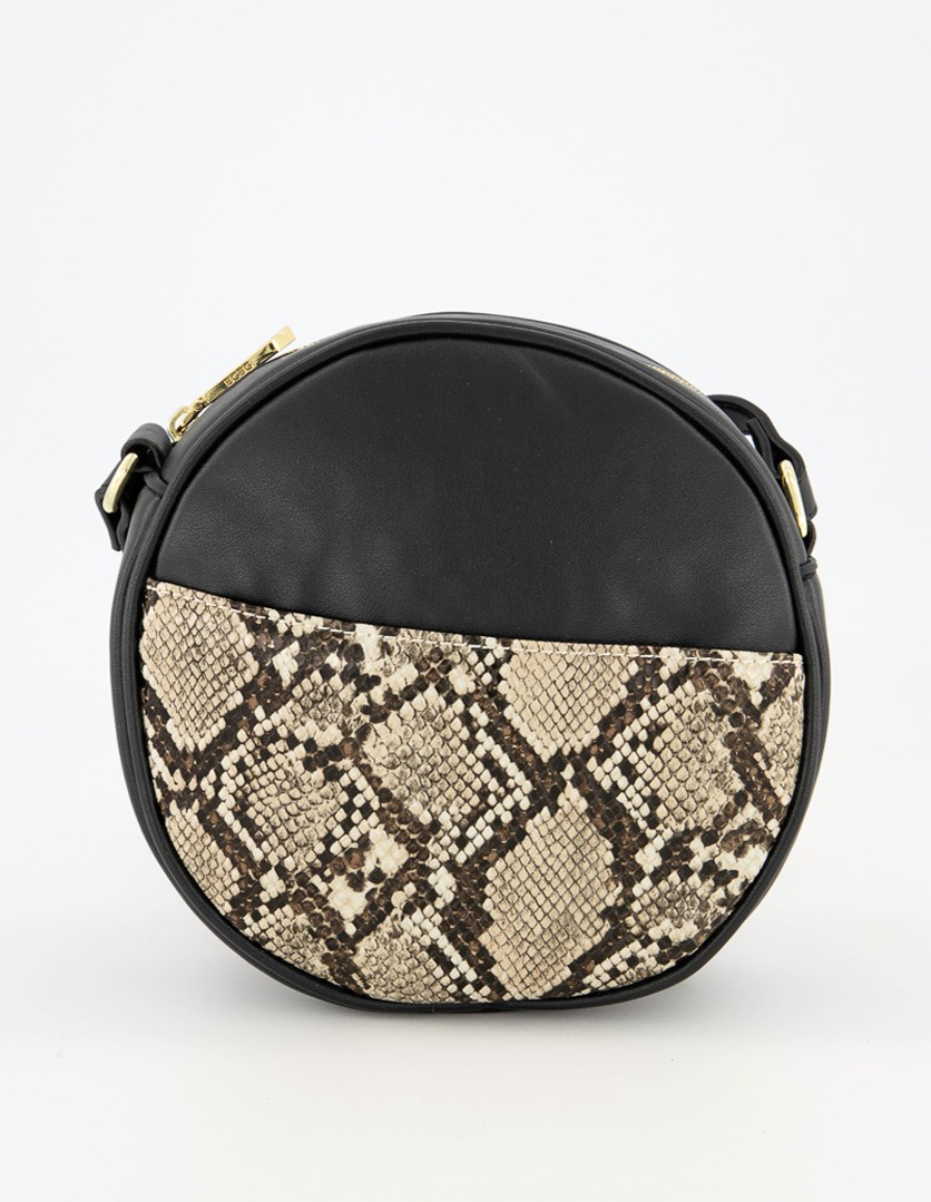 Women's Hazel Croosbody Bag, Black/Nature Snake