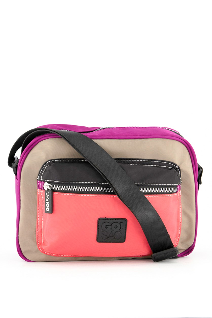 Women's Charlie Shoulder Bag, Taupe/Purple/Black/Pink