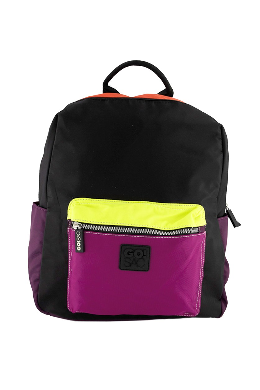 Women's Khloe Backpack, Purple/Black/Red/Lime Green