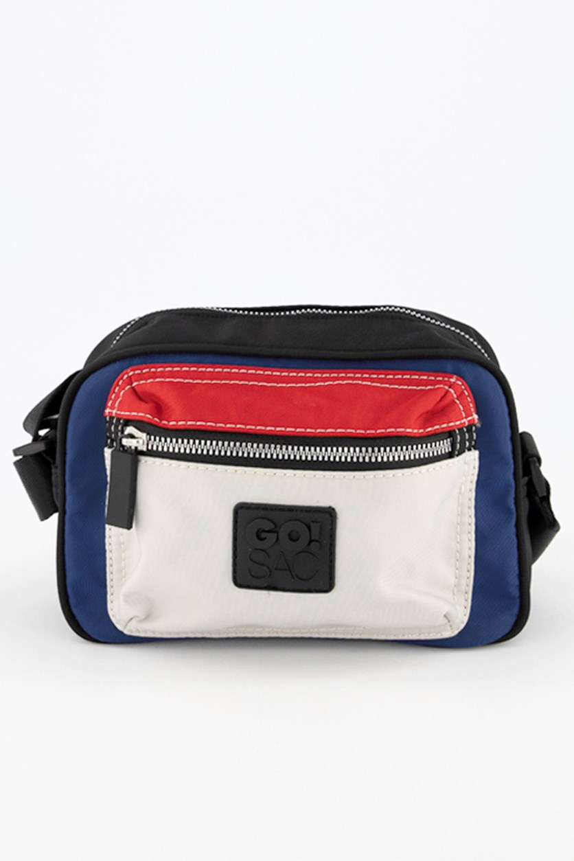 Women's Jordyn Shoulder Bag, Black/Red/Light Grey