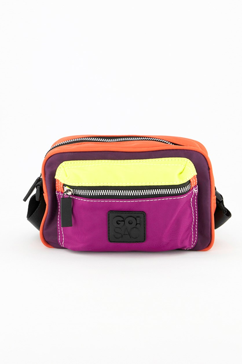 Women's Jordyn Shoulder Bag, Coral/Lime/Purple