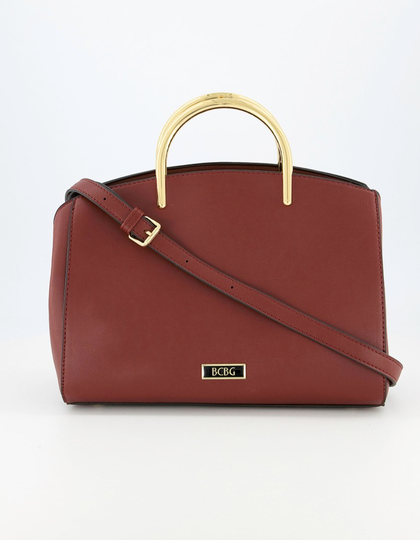 Women's Elyse Satchel Bag, Maroon