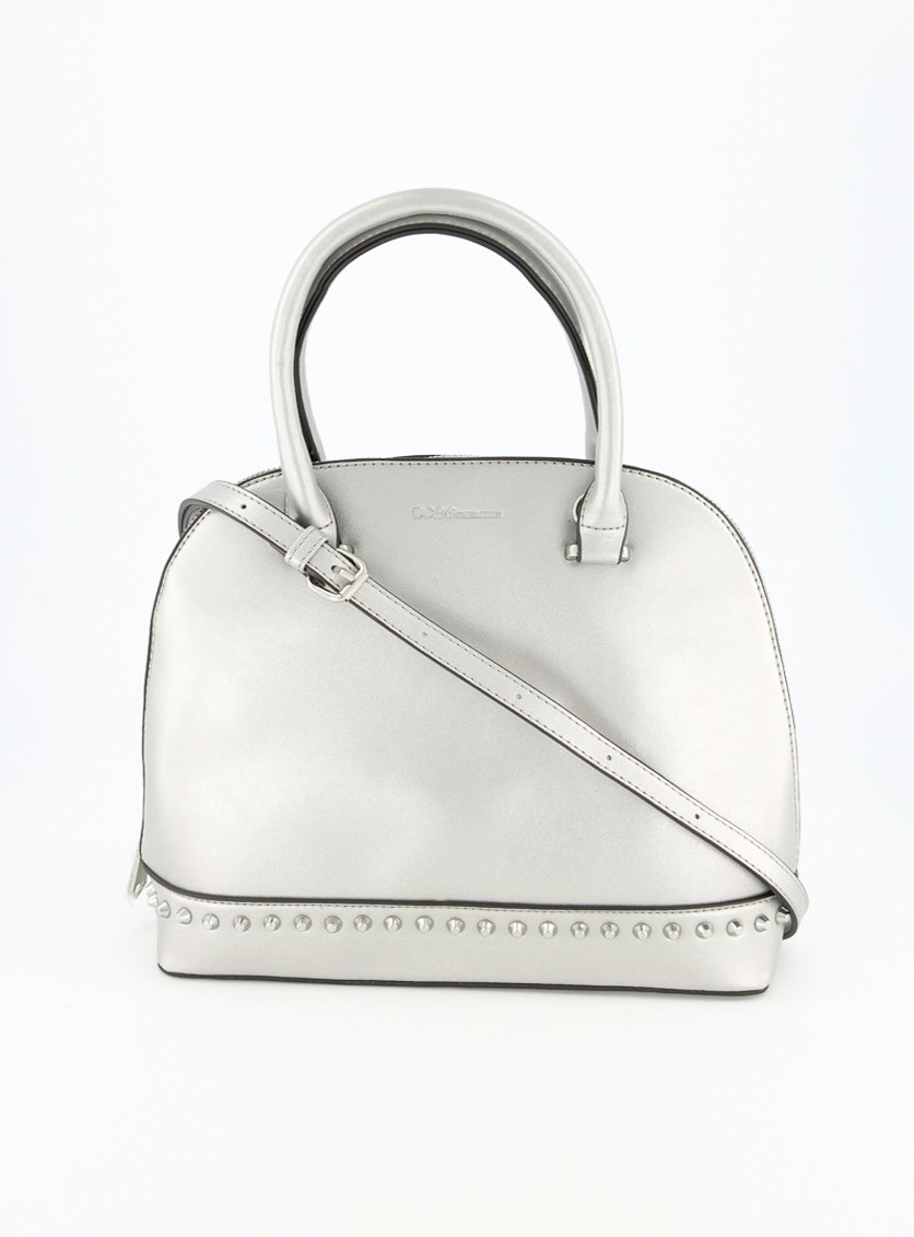 Women's Poppy Studded Dome Bag, Silver