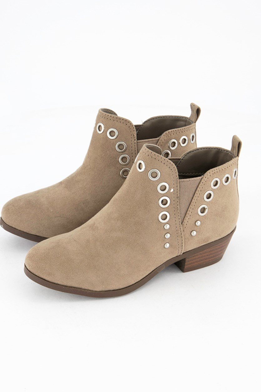 Big Girls Paula Joanne Booties, Grey