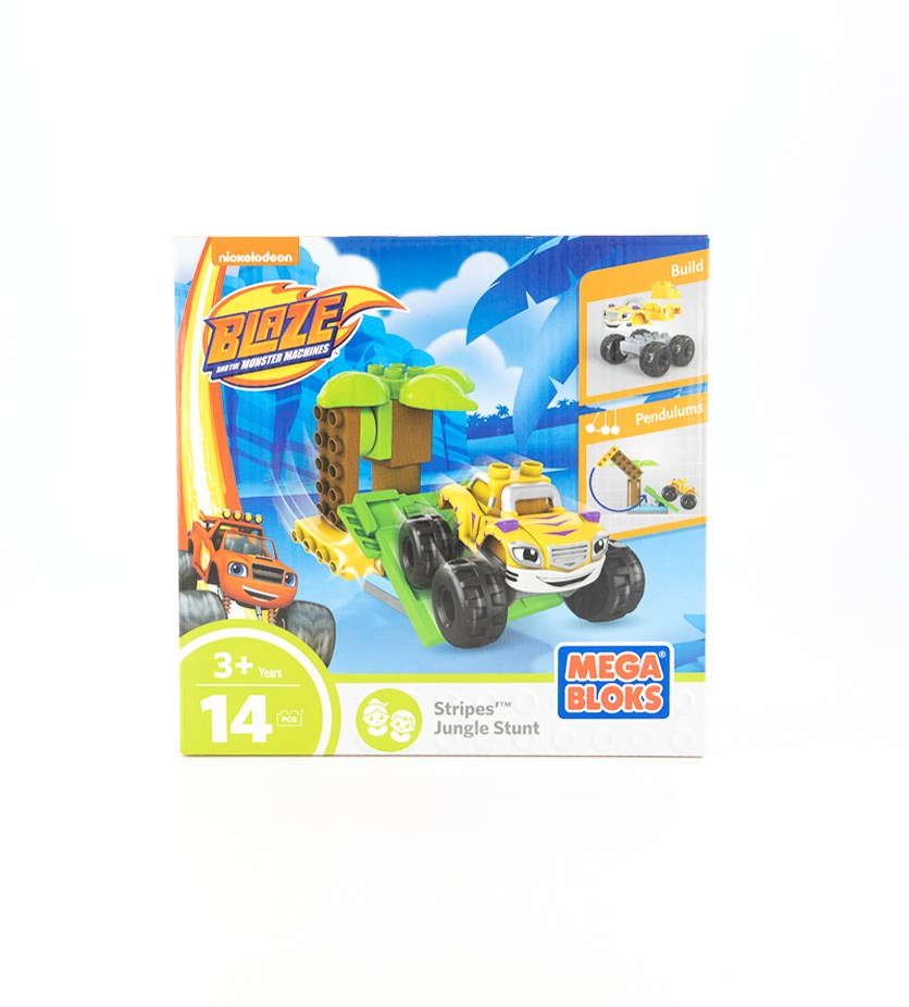 Mega Bloks Blaze Stripes Jungle Stunt Vehicle, Blue Combo