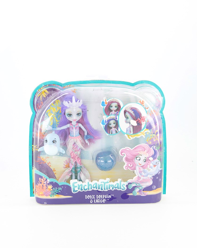 Dolce  Dolphin & Largo  Doll, Purple Combo