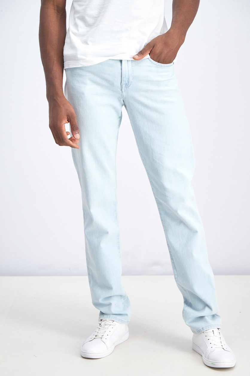 Men Pull-on Jeans, Light Blue