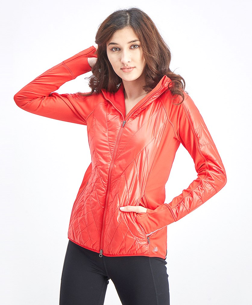 Women's Heat Hybrid Jacket, Red
