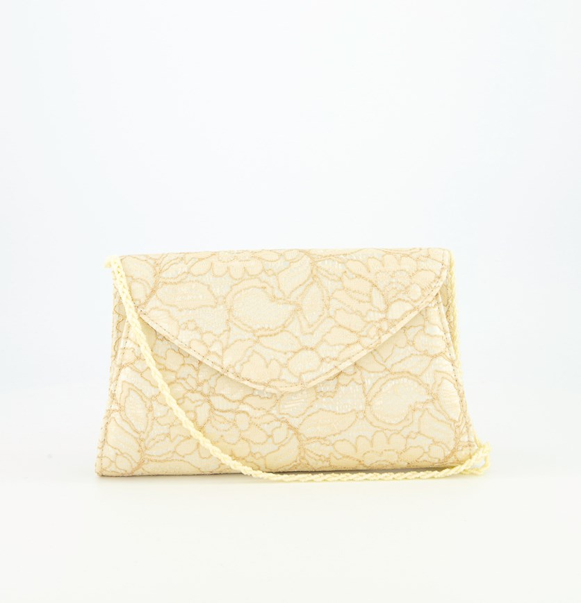 Women's Seta Clutch Bag, Latte