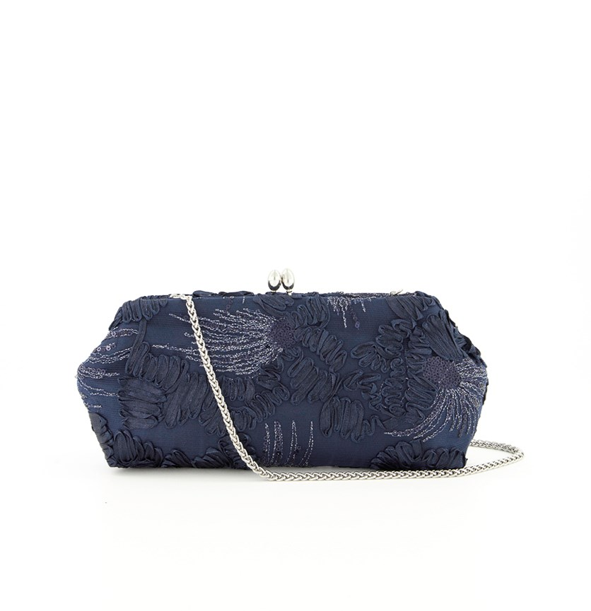 Sia Evening Handbags, Navy