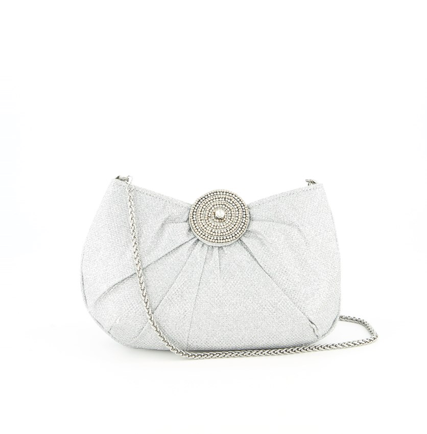 Women's Stefania Small Clutches, Silver