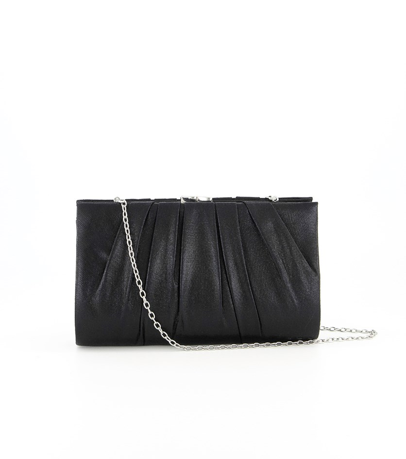 Women's Clutch Bag, Metallic Black
