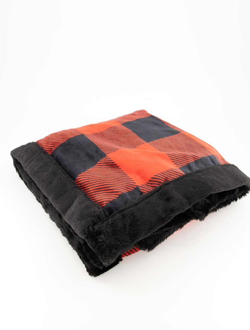 Holly Jolly Incredibly Soft Throw, Red/Black