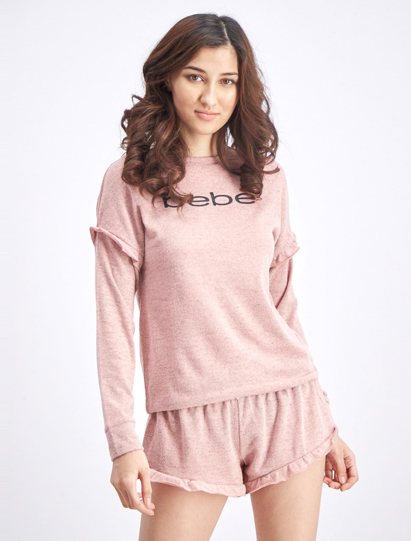 Women's Tops and Short Sleepwear, Mauve Pink