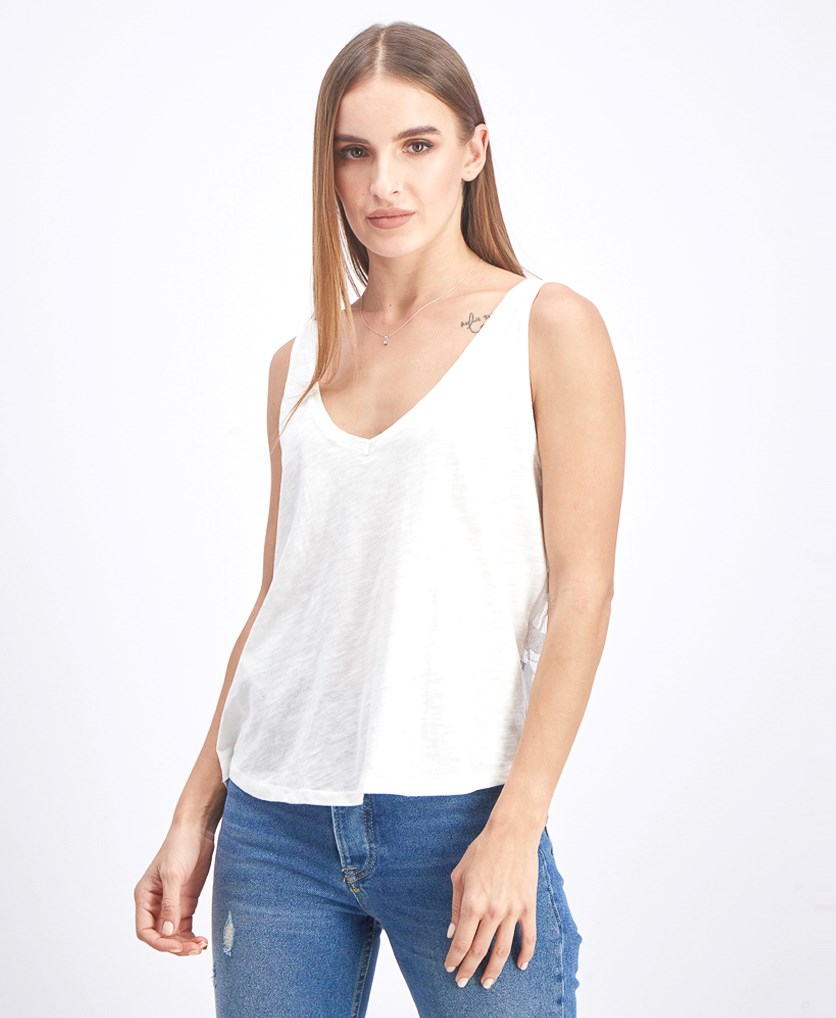 Women's Tops Textured Tops, White