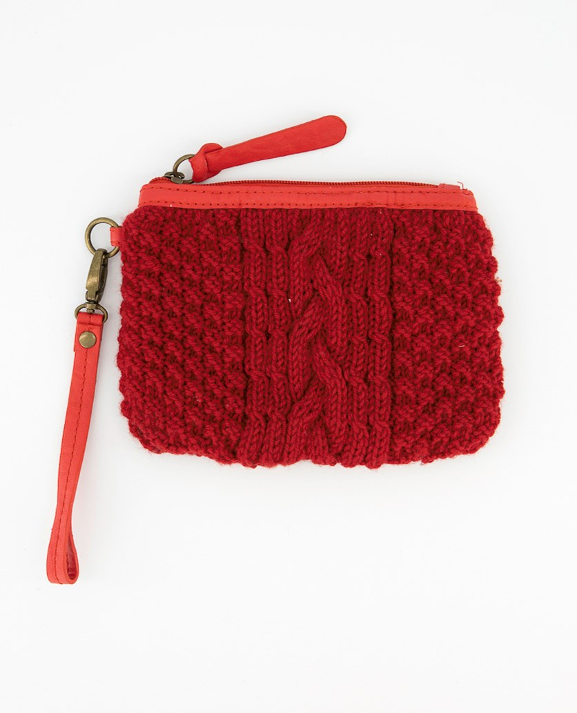 Women's Embroidered Purse, Red