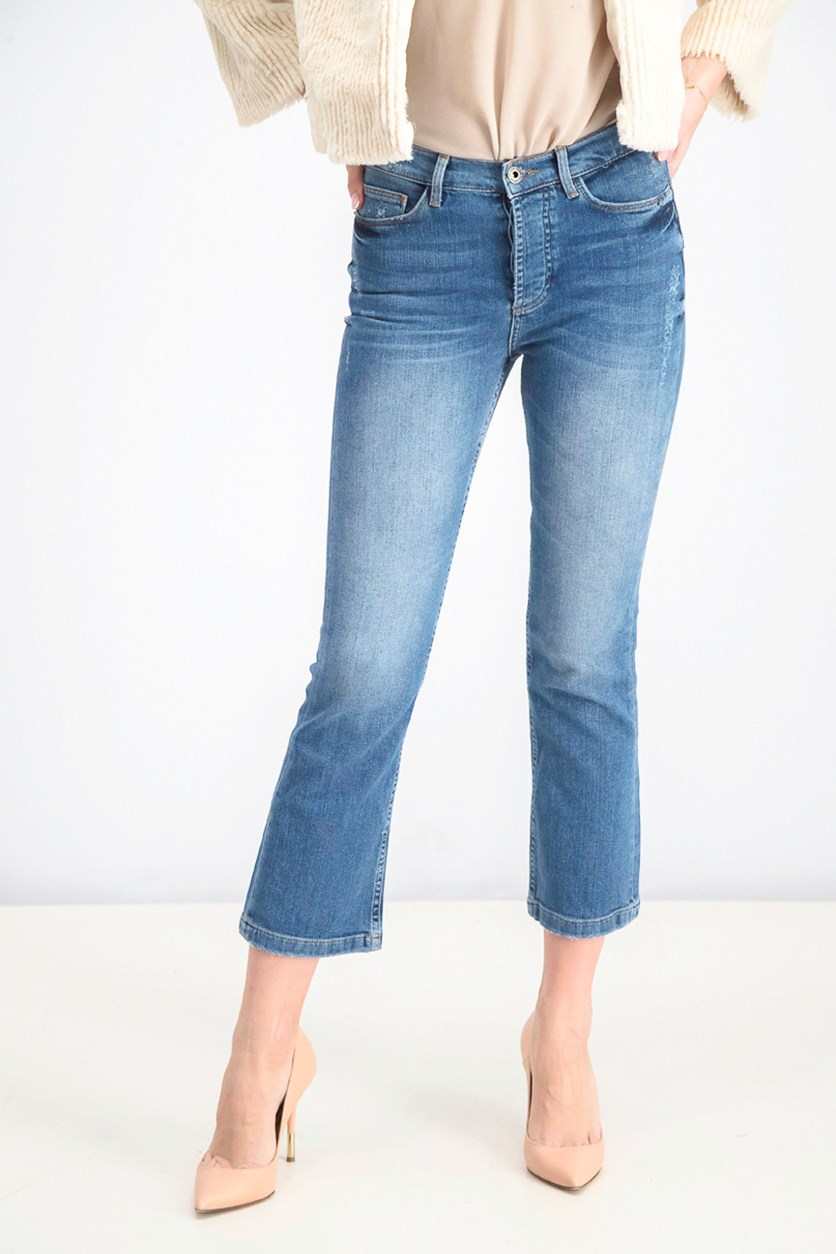 Women's Five Pocket Jeans, Blue
