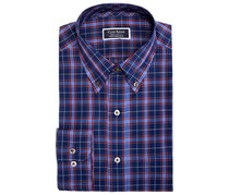 Club Room Men's Plaid Long Sleeve Button-down Shirt, Navy/Purple