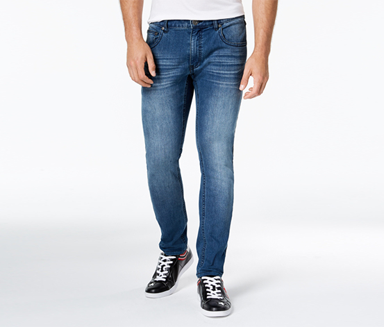 INC Ronnie Super Stretch Skinny Jeans, Medium Wash