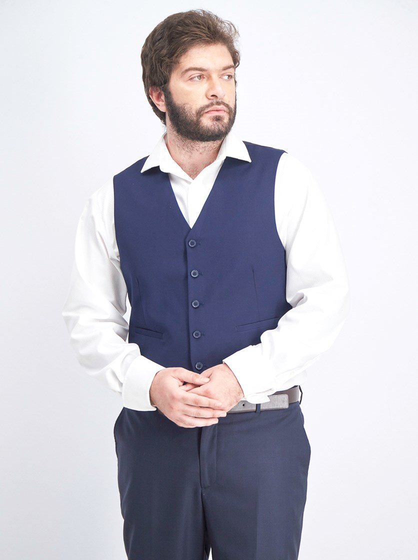 Men's Vest, Navy Blue
