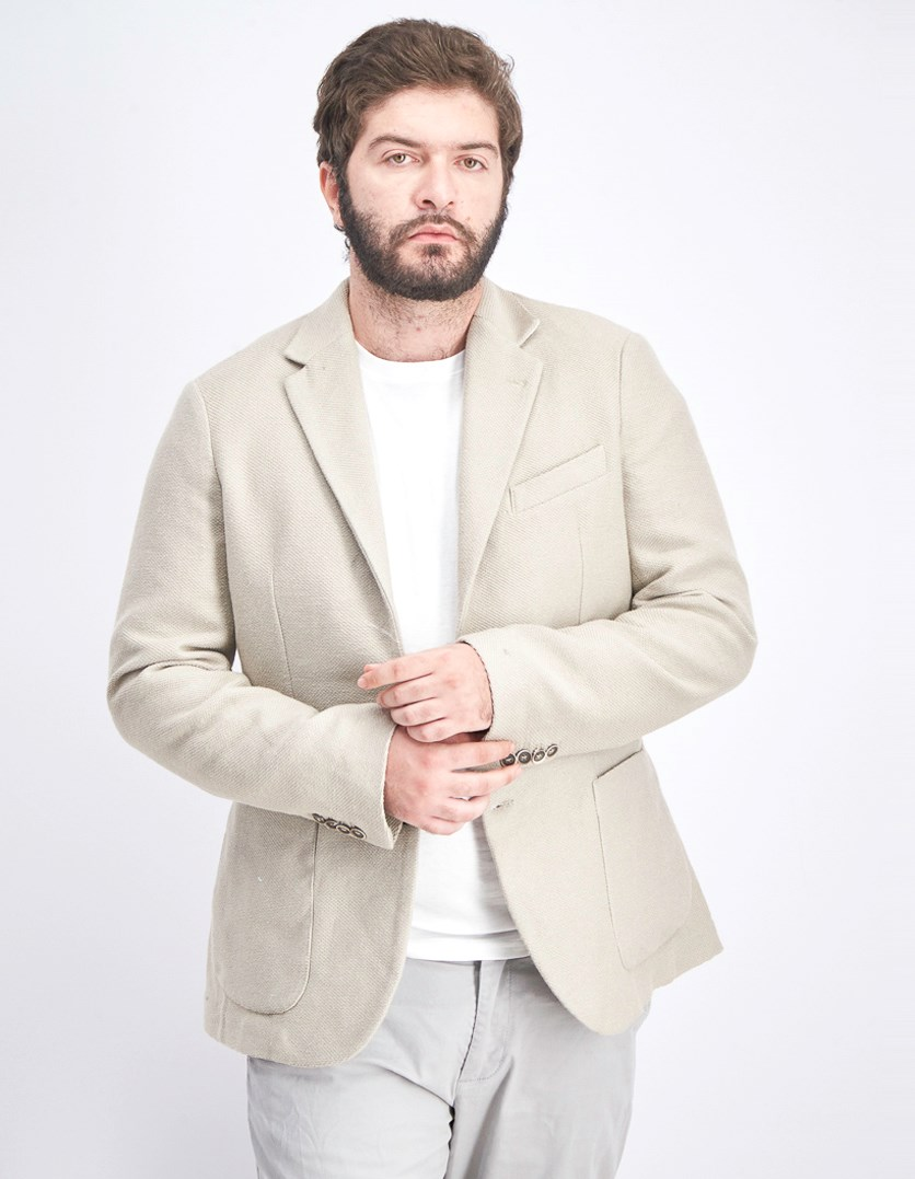 Men's Two Button Blazer, Beige