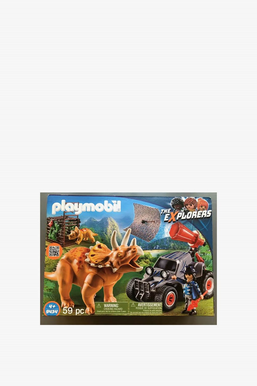 Enemy Quad with Triceratops Building Set, Blue