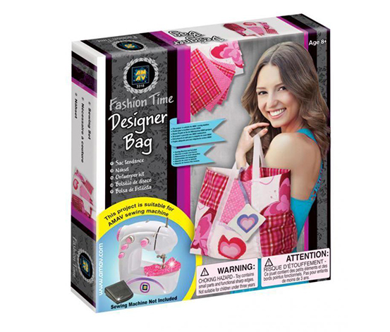 Go Toys Fashion Time Sewing Kit For Girls By Fashion Time, Pink