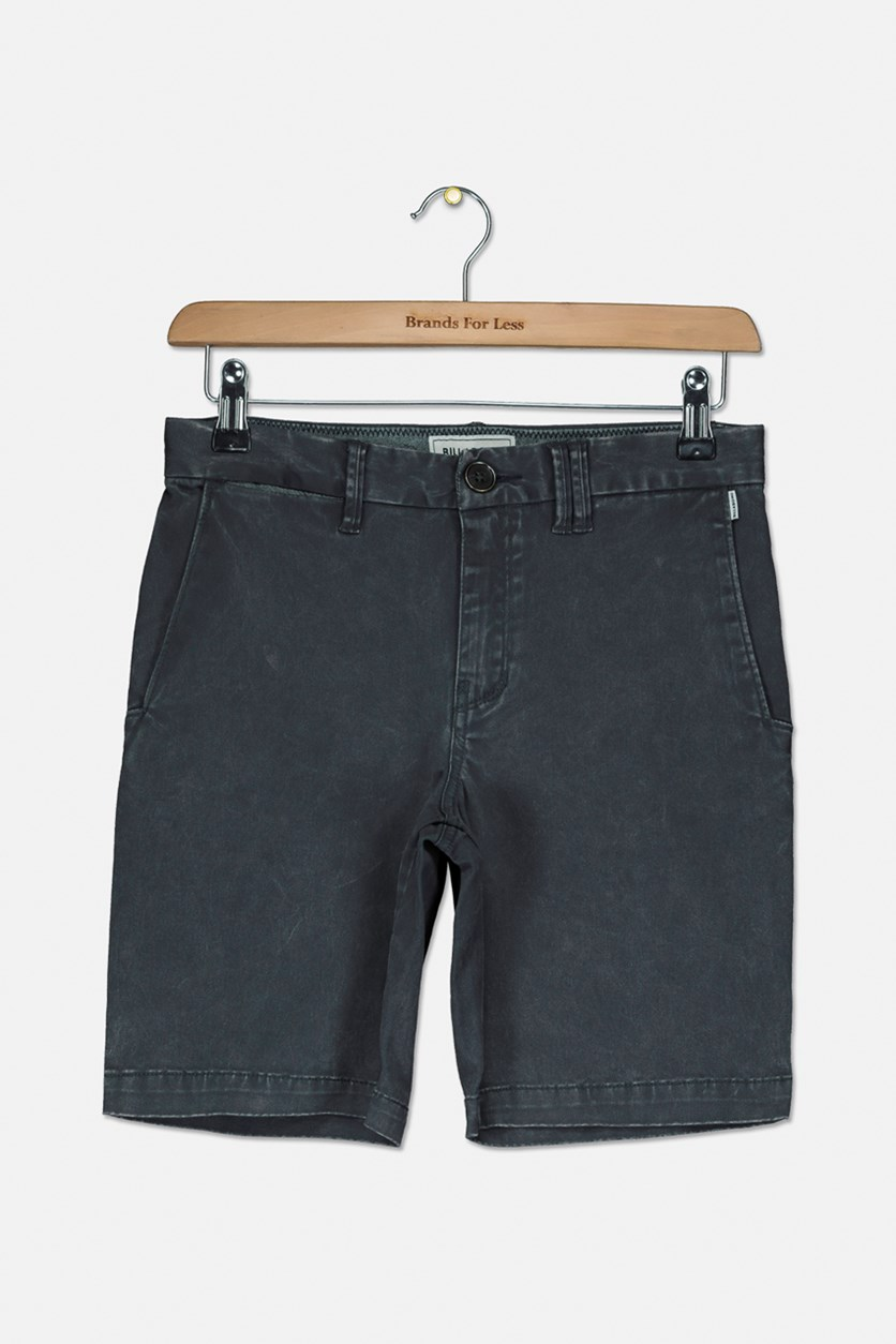 Kid's Boys New Order X Overdye Short, Charcoal