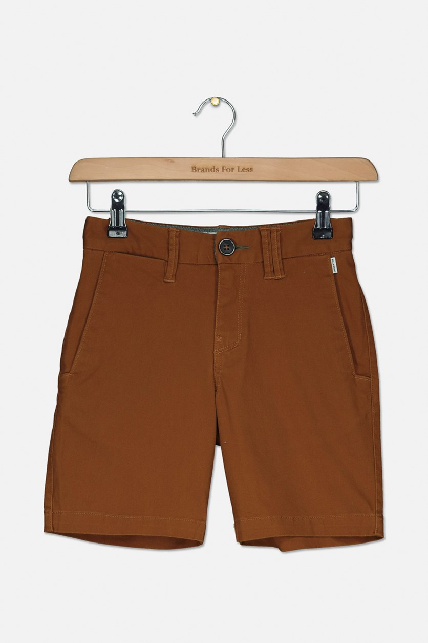 Kids Boys New Order Walk Short, Tobacco