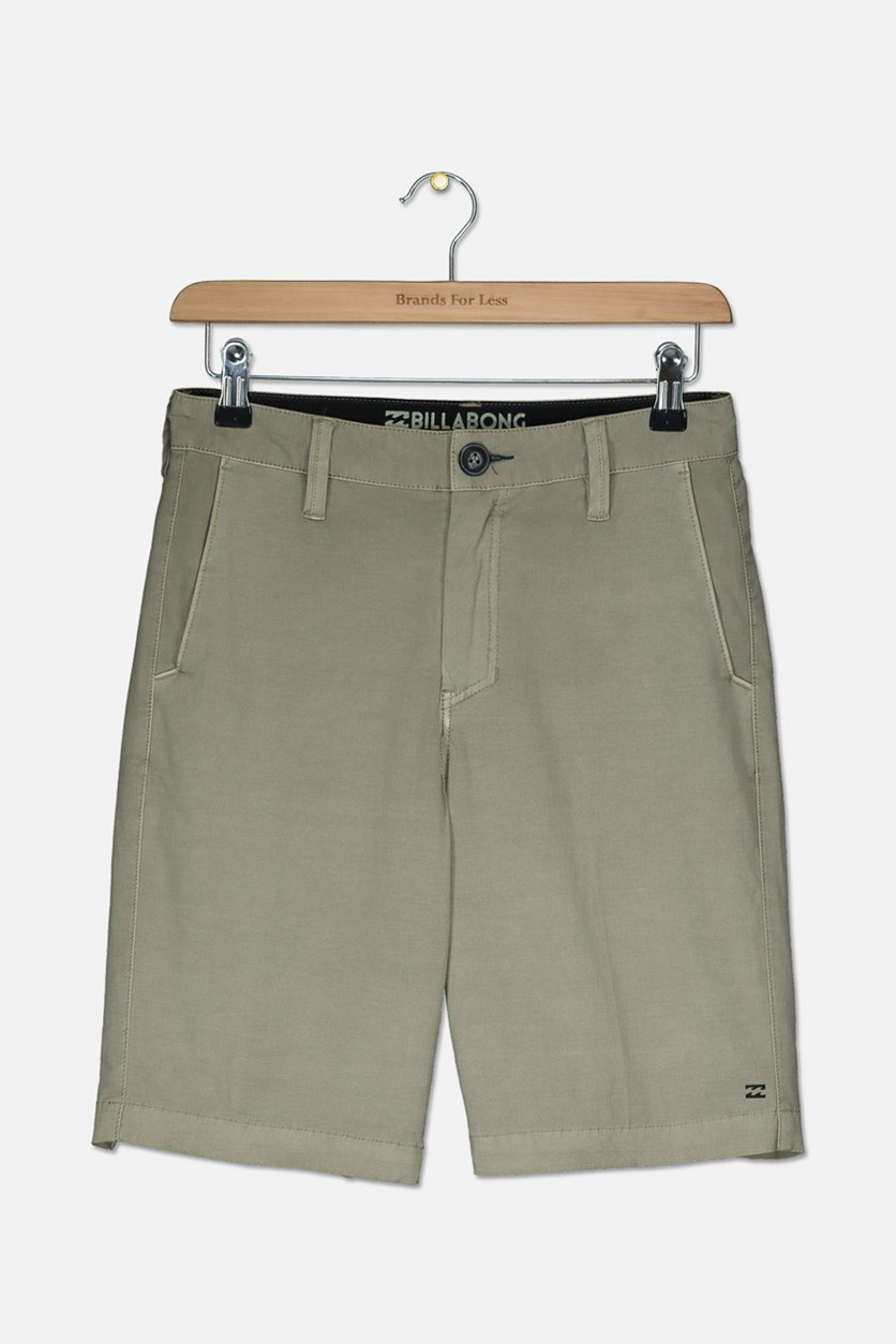 Kid's Boys New Order X Overdye Short, Dark Khaki