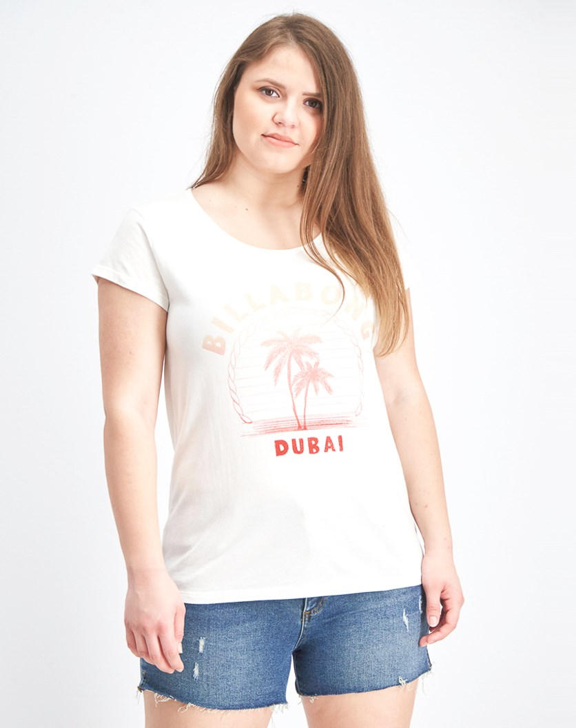 Women's Short Sleeve Graphic T-Shirt, Cream