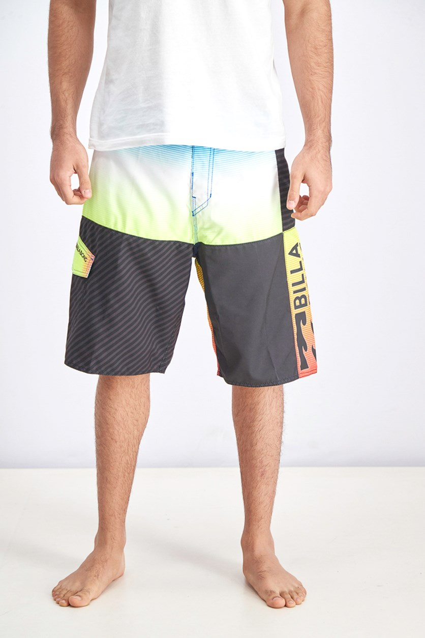 Men's Cut It Boardshort, Black Combo