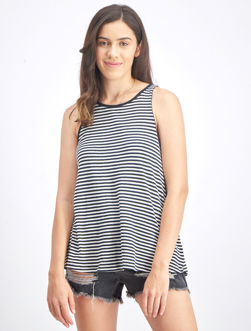 Women's Mainland Tank Top, Black/White