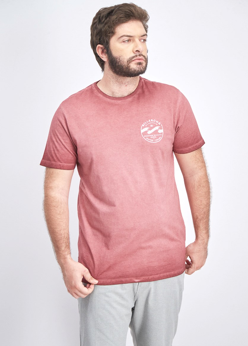 Men's Double Wave Tee, Dusty Red