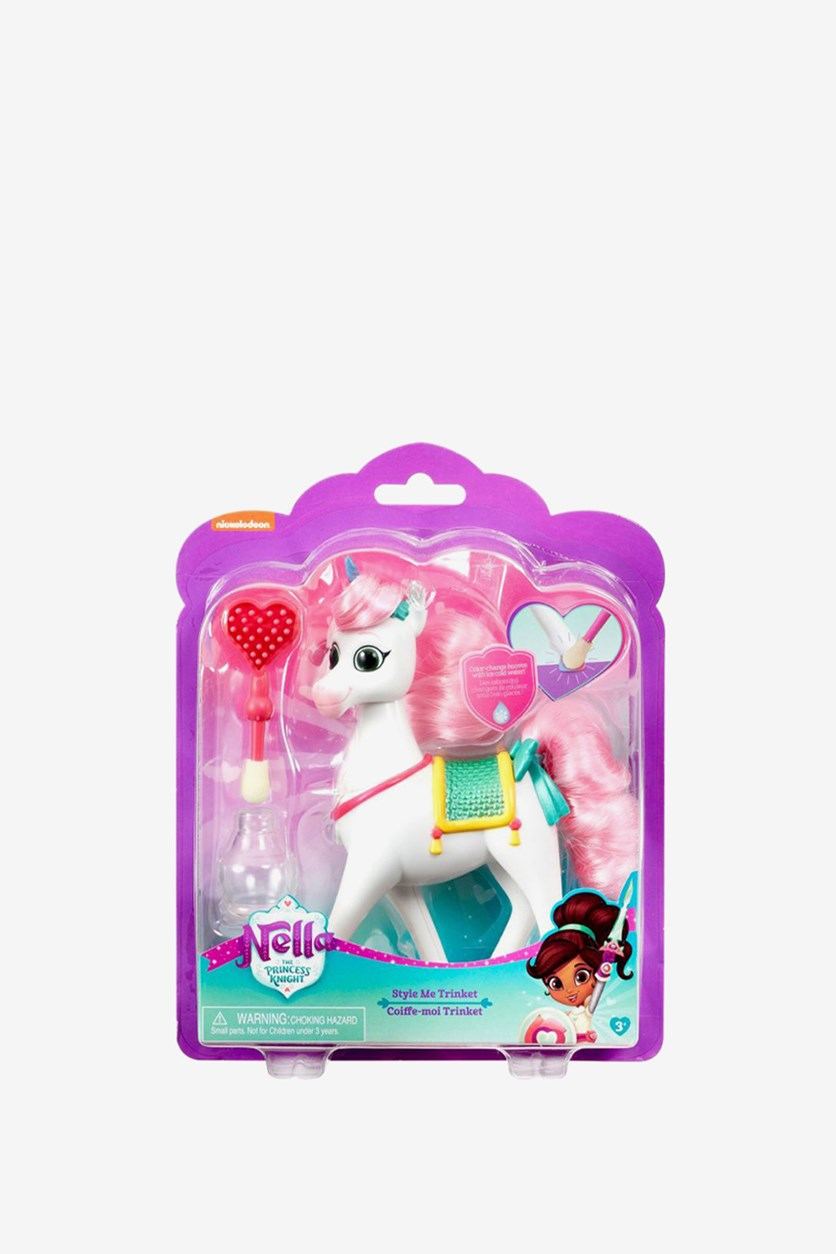 Nella The Princess Knight Trinket Figure, White/Pink Combo