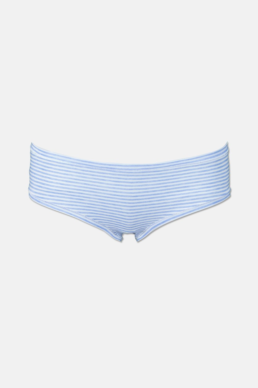 Women's Striped Hipster Panty, Blue/White