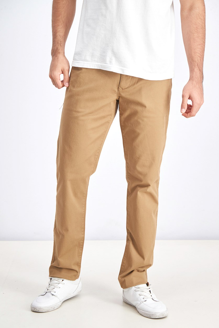 Men's Stretchable Slim Cut Chino Pants, Brown