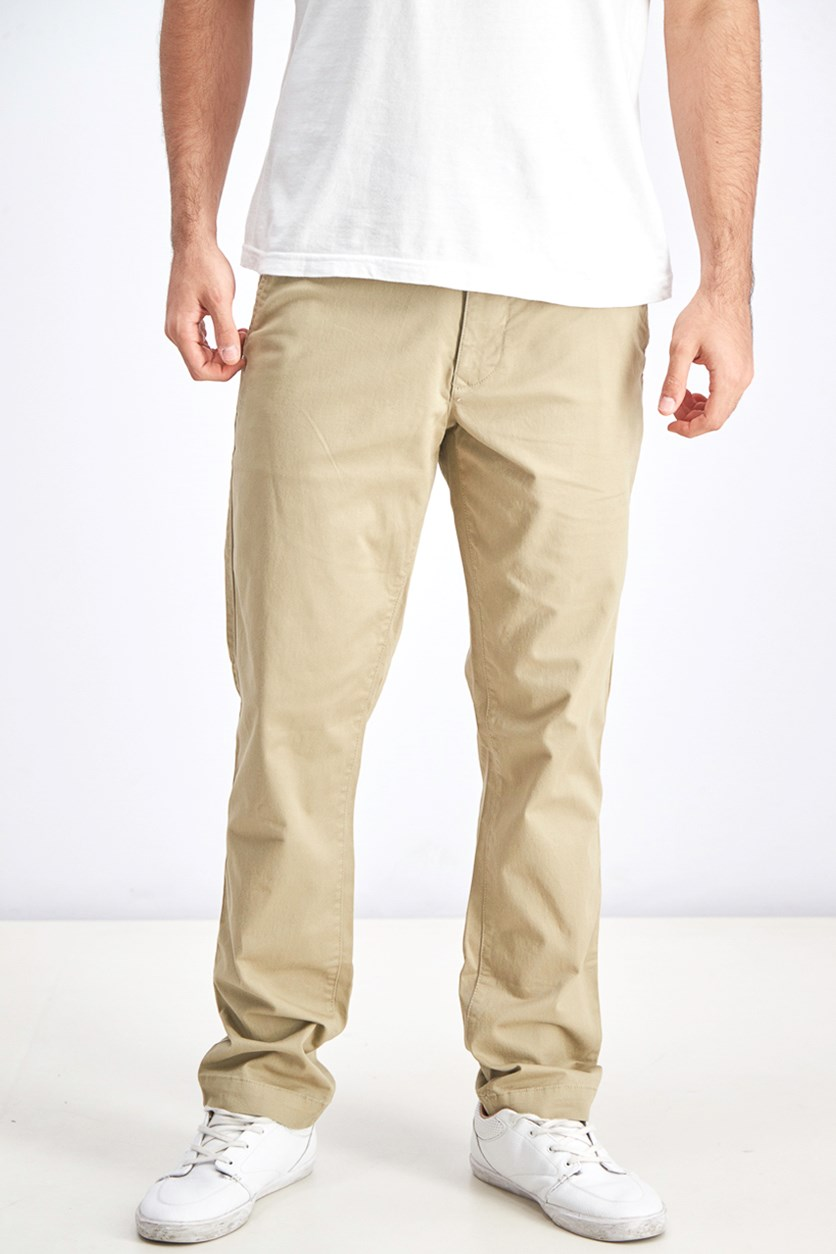 Men's Mid Rise Slim Fit, Khaki